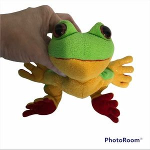 Ganz Plush Frog Grey Pre-Owned Condition Retired
